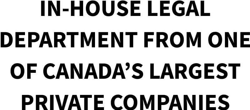 Canadian In-House Legal Department