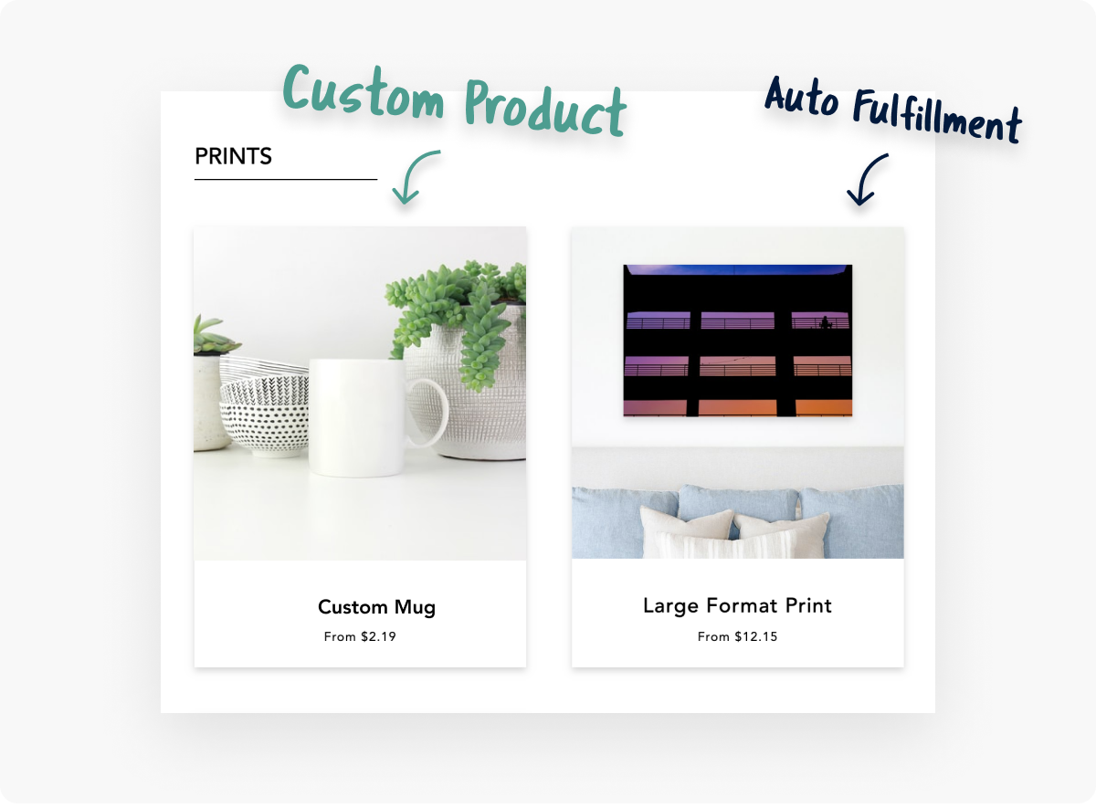 CloudSpot's online photo gallery Store now helps you earn more with Hybrid Catalogs! Enjoy automatic print fulfillment from our lab partners while still fulfilling unique custom products on your own. Here are 8 ways Hybrid Catalogs can help you can earn more in sales from every gallery!