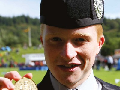 Ross Connor, Campbeltown winner of the Duke of Argyll's Medal for Under 16 March, Strathspey and Reel (picture courtesy Piping Press)