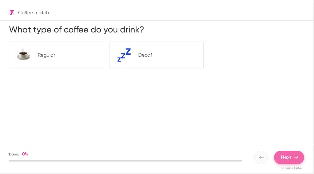 type of coffee quiz