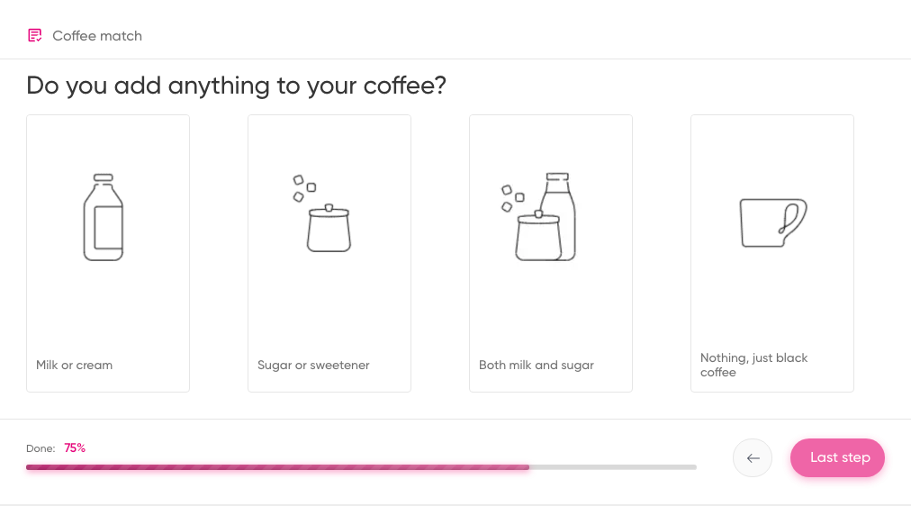 choose coffee quiz