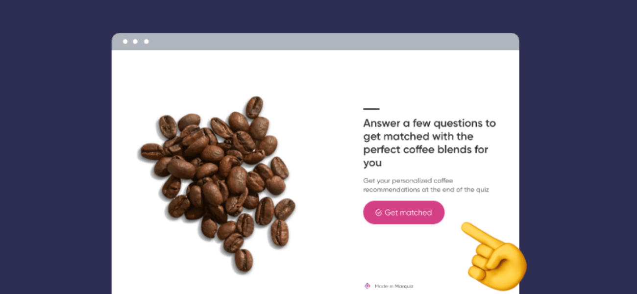 coffee match quiz template