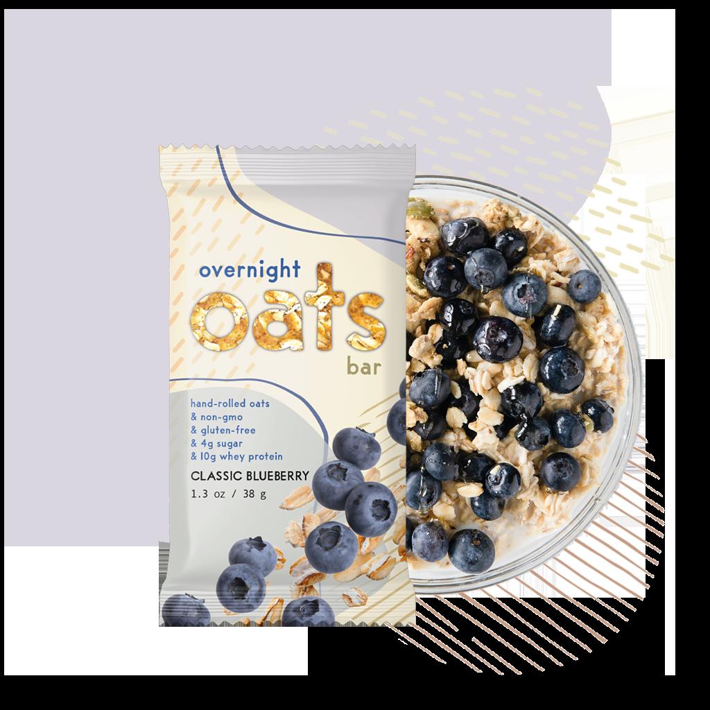 Classic Blueberry overnight oats bar