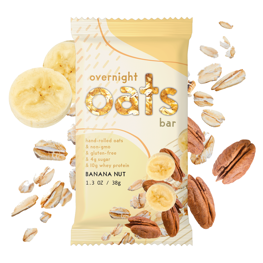 Banana Nut Overnight Oats Bar