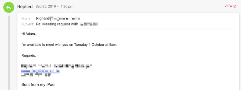 Email reply