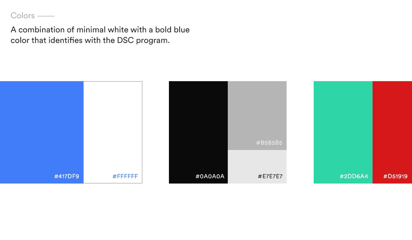 DSC Brand colors
