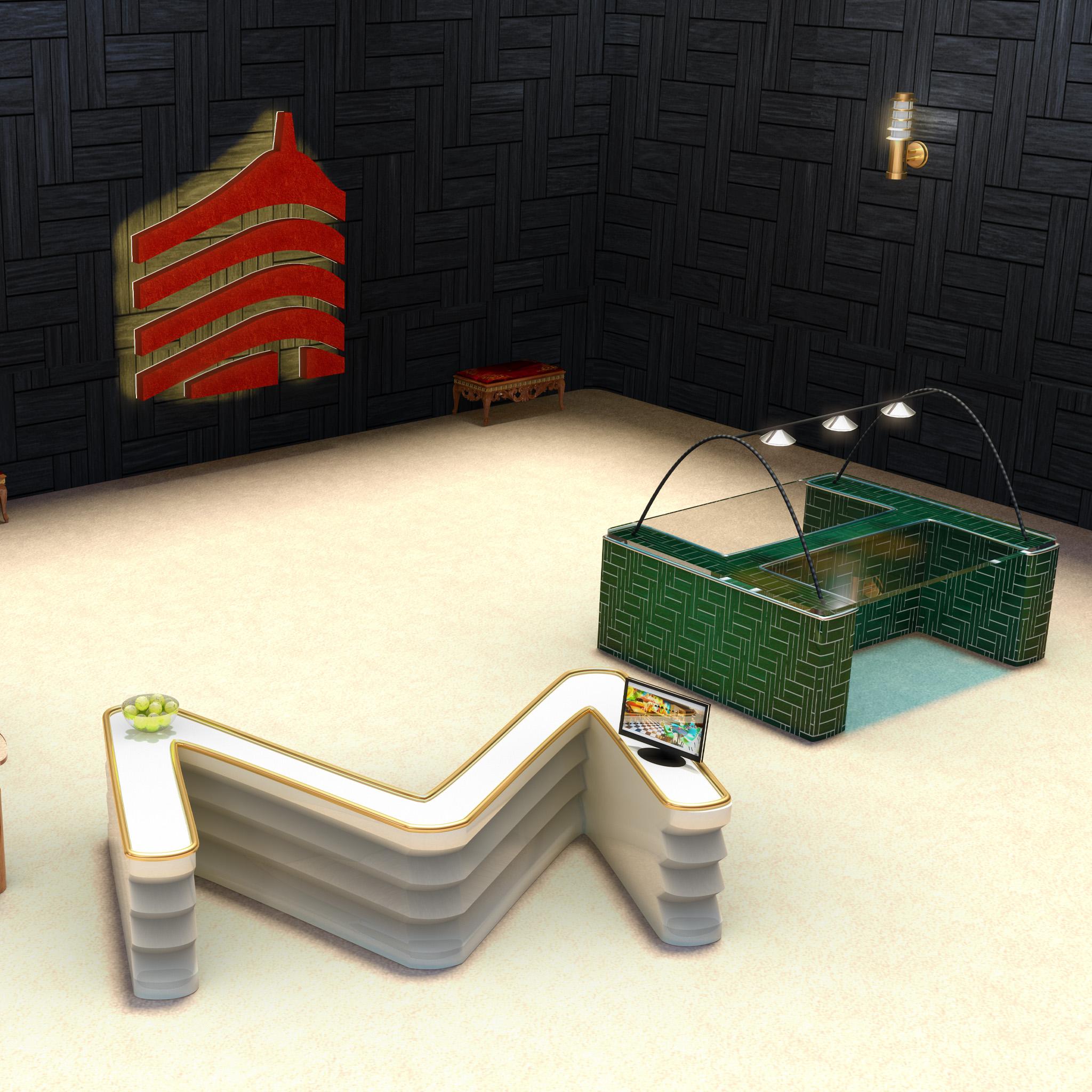 Projet école mobilier en lettres 3D