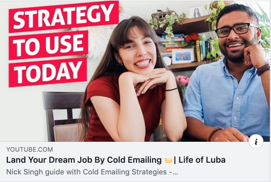 Nick Singh Cold Emailing YouTube Video With Life of Luba Youtube Video
