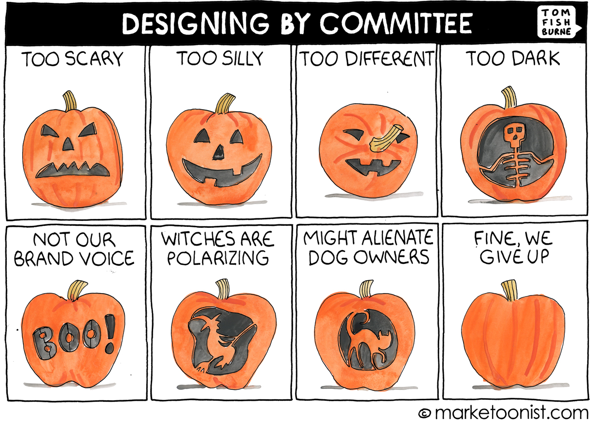 Designing by Committee Cartoon | Marketoonist | Tom Fishburne