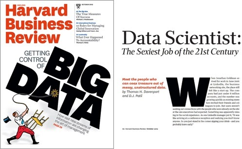 Famous Harvard Business Review October 2012 issue that declared Data Science the sexiest job of the 21st Century.