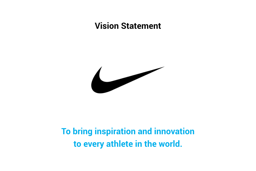 Nike Vision Statement - To bring inspiration and innovation to every athlete in the world.