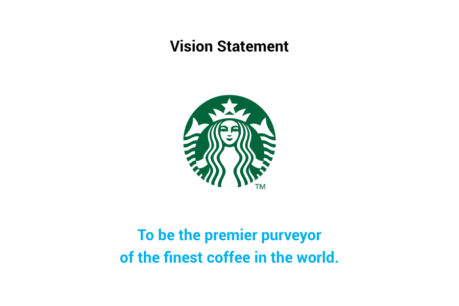 Starbucks Vision Statement - To be the premier purveyor of the finest coffee in the world.