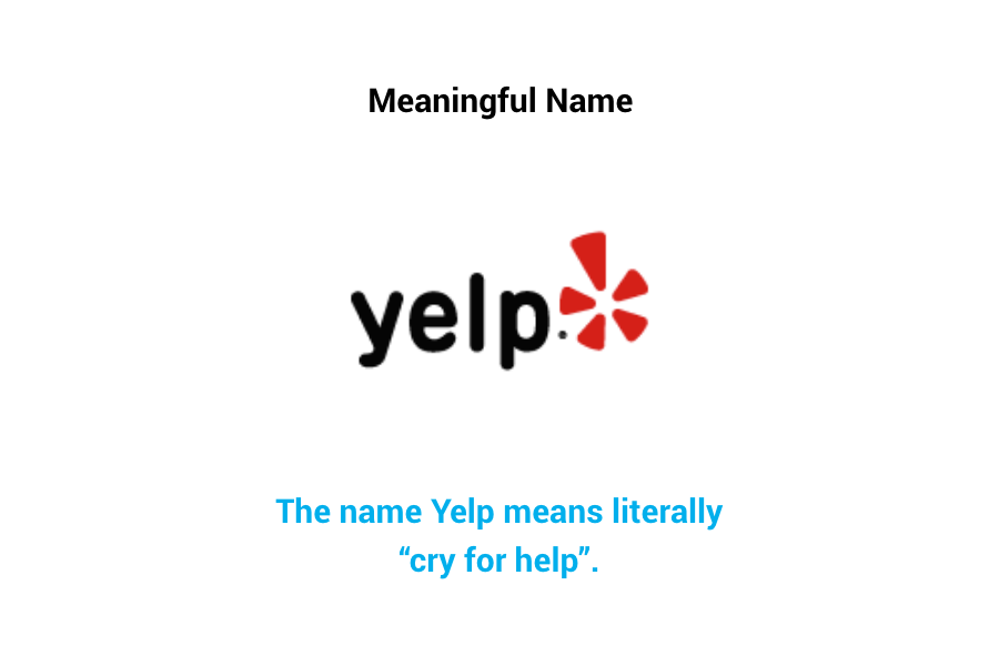 Yelp - meaningful name