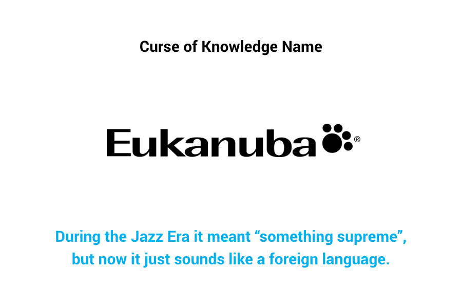 Eukanuba - Curse of knowledge name