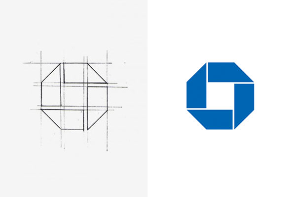 Chase bank logo sketch