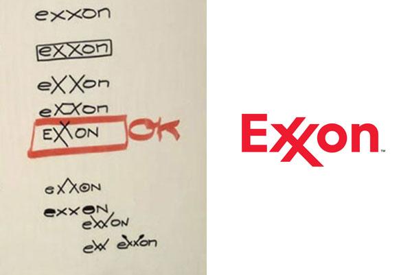 Exxon logo sketch