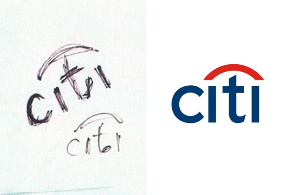 Citi Bank logo sketch