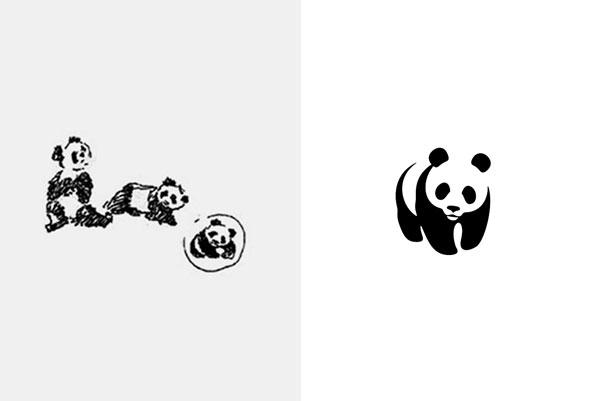 WWF logo sketch