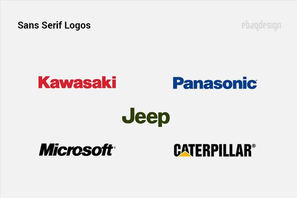 Logos using serif fonts