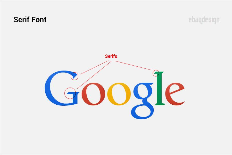 Serif font - the old Google wordmark