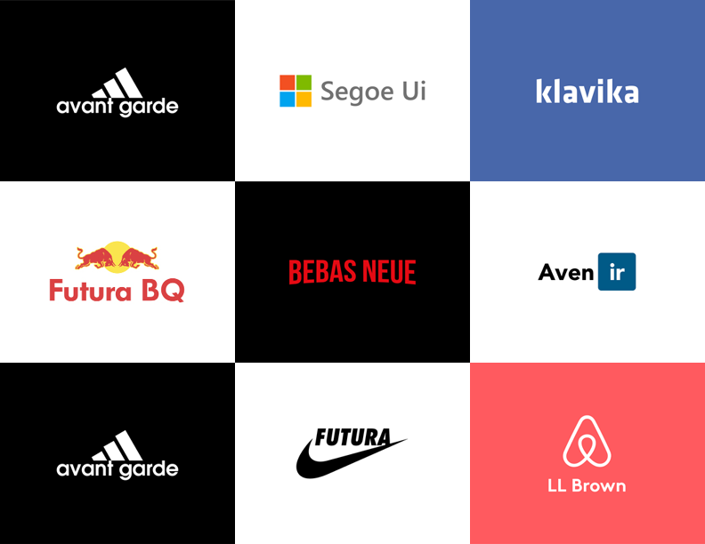 Which font was used in famous logos?