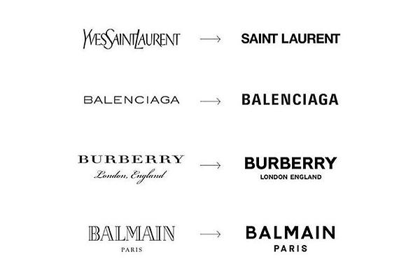 Famous logos get rid of serifs