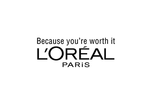 "Loreal slogan ""Because you're worth it"""