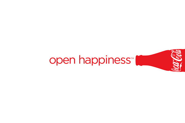 "Coca-Cola slogan ""Open Happiness"""
