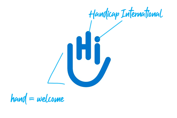 Handicap International logo explained