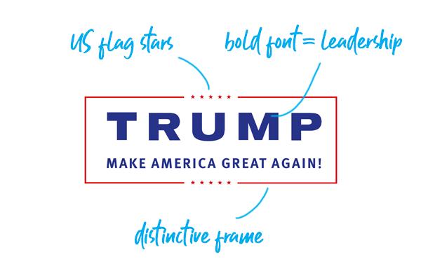 Donald Trump campaign logo 2016