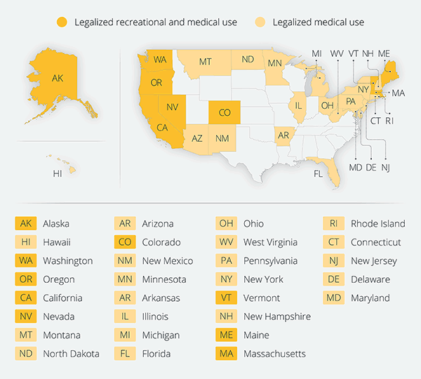 Cannabis Map USA