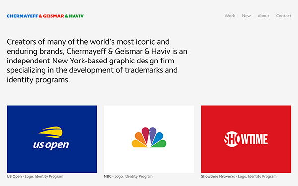 Chermayeff & Geismar & Haviv - graphic design firm based in New York