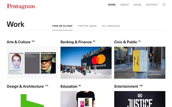 Pentagram - graphic design firm based in New York