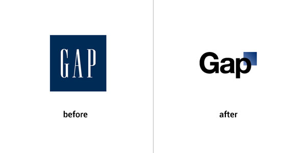 Gap logo design gone wrong