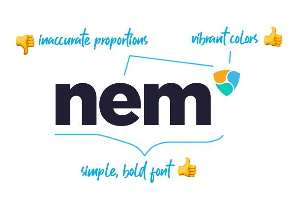 NEM logo design analysis