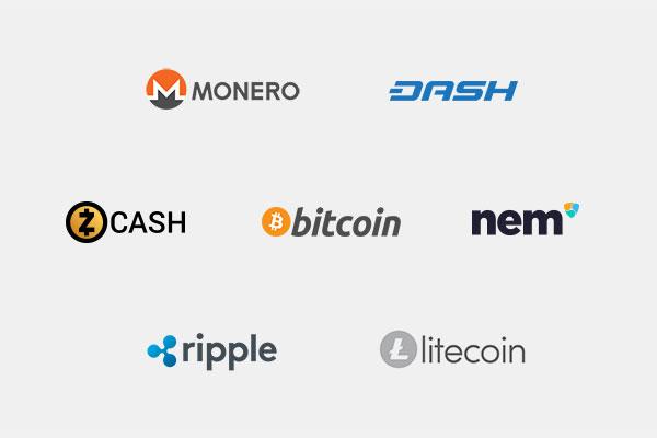 top 7 crypto logos
