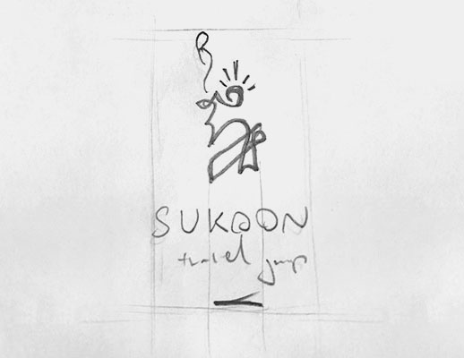 selected logo design sketch
