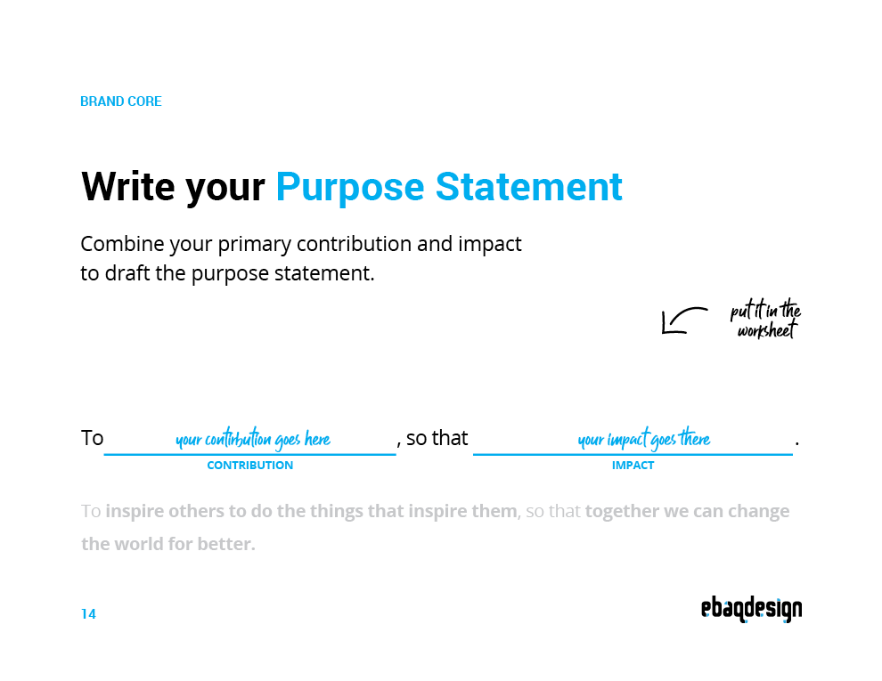 Purpose Statement Template