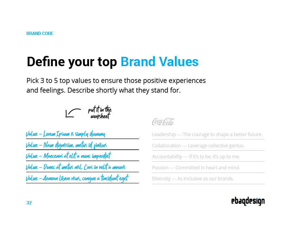How to define your core brand values.