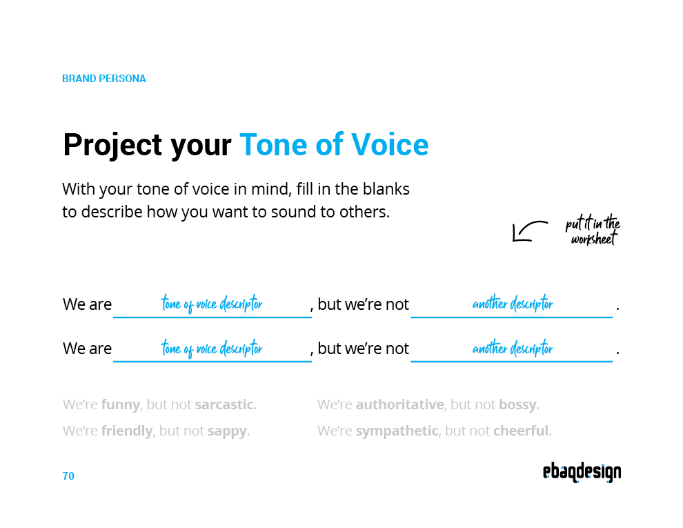 Tone of Voice Template