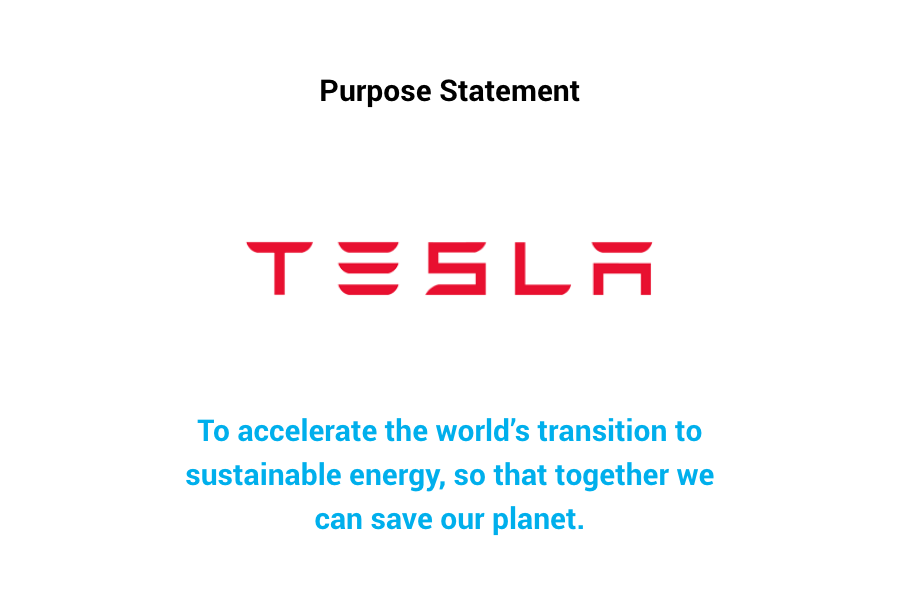 Purpose Statement — Tesla