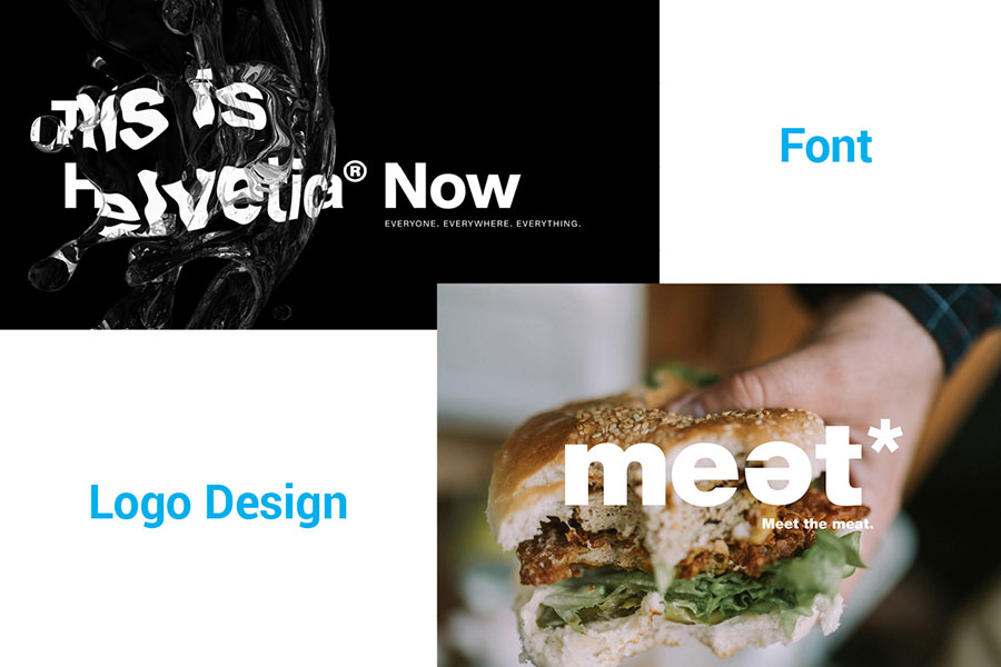 Helvetica Now in logo design