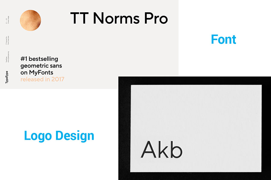 TT Norms Pro in logo design