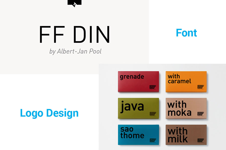 FF DIN in logo design