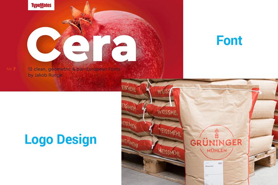 Cera Pro font in logo design