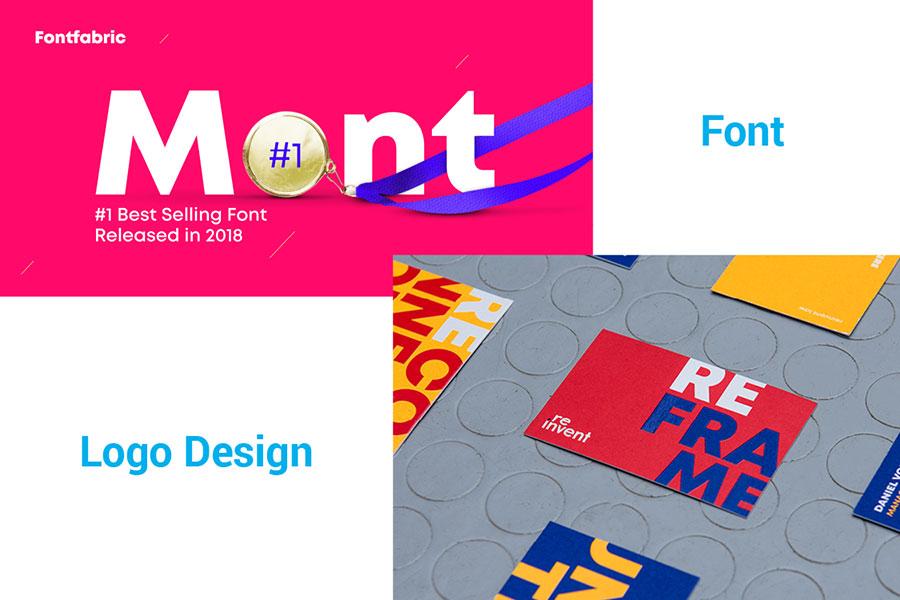 Mont font in logo design