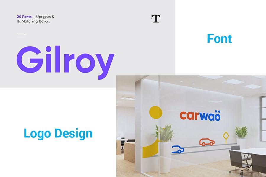Gilroy font in logo design