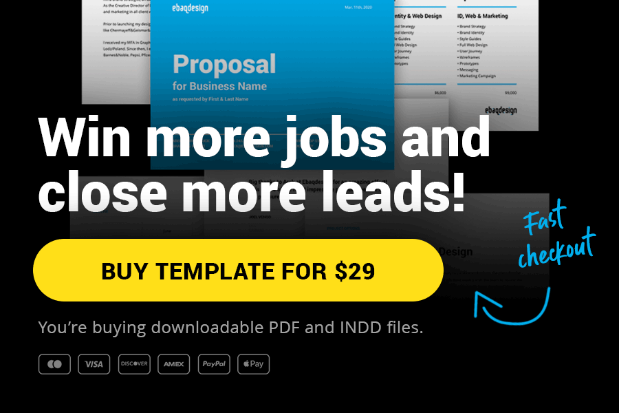 Buy Design Proposal Template for $29 — Pay with PayPal