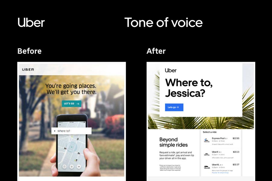 Uber brand voice