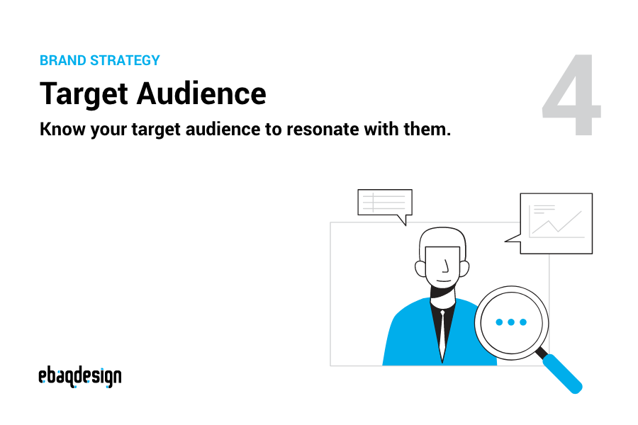 Target Audience — Know your target audience to resonate with them.